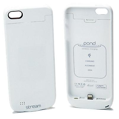 Stream Wireless Charging Case - White