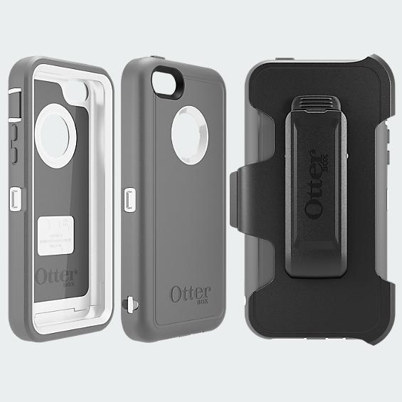 OtterBox Defender Case for Apple iPhone 5c - White