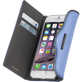 Leather Wristlet Folio for iPhone 6/6s - Bluebell
