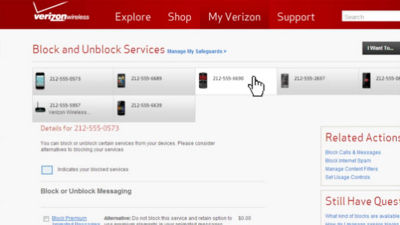 How to retrieve blocked text messages verizon
