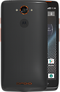 DROID TURBO by Motorola in Gray Ballistic Nylon with Metallic Orange Accents