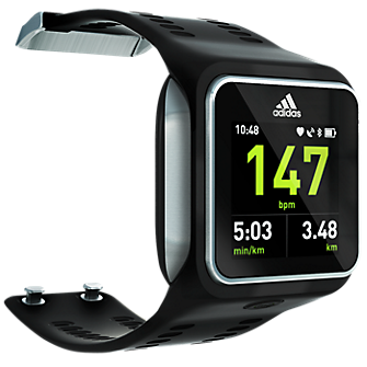 Adidas miCoach Smart Run Watch - Black