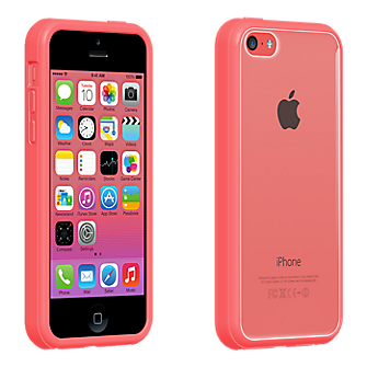 Clear Shell with White Edge for iPhone 5c – Pink | Phone ...