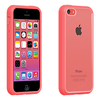 Clear Shell with Pink Edge for iPhone 5c