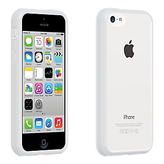 Clear Shell with White Edge for iPhone 5c