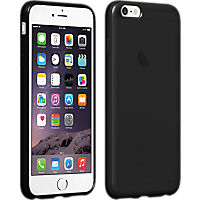 High Gloss Silicone Case for iPhone 6 Plus - Black