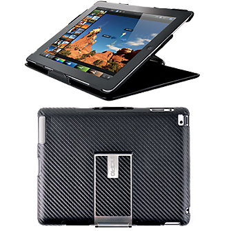 Incipio iPad Executive Folio Black w/Carbon Fiber & Aluminum