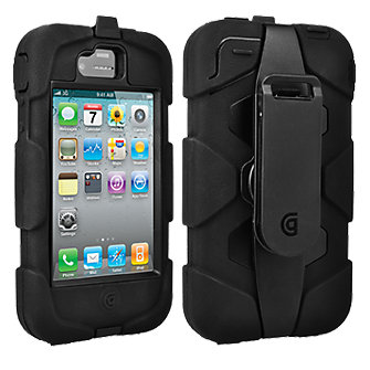 iPhone 4/4s Griffin Survivor Military Duty Rugged Case and Belt Clip