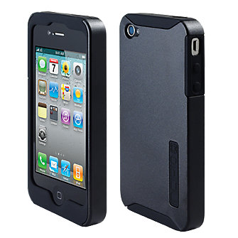 iPhone 4/4s Incipio Double Covers - Silicone and Hard Cover - Black