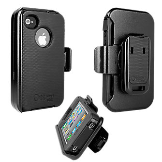 OtterBox Defender Series Case & Holster for Apple iPhone 4/4s - Black