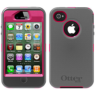 OtterBox Defender Series Case & Holster for Apple iPhone 4/4s - Pink