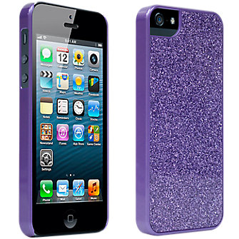 iPhone 5 Hard Cover - Purple Sparkle