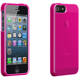 High Gloss Silicone Cover for Apple iPhone 5 - Pink