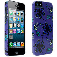 Paisley Print Hard Cover for iPhone 5/5s - Purple