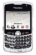 BlackBerry Curve 8330 smartphone in Silver Support