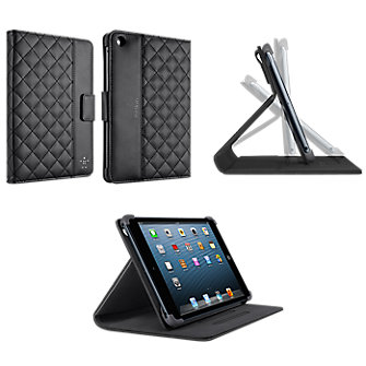 Belkin Folio w/ stand  - Quilted  Black for iPad Mini/ iPad Mini Retina