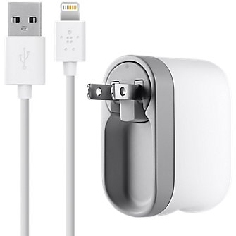 Belkin 10W Swivel Charger with Apple Data Cable