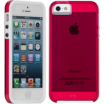 Case-Mate Naked Tough Case for Apple iPhone5/5s - Shocking Pink/White