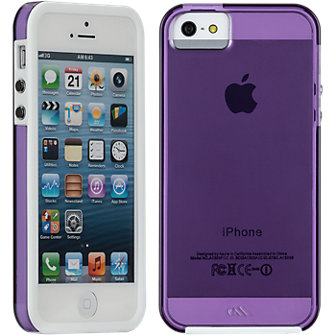 Case-Mate Naked Tough Case for Apple iPhone5/5s - Violet/White