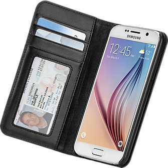 Case-Mate Wallet Folio for Samsung Galaxy S 6 - Black