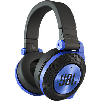 JBL E50BT Around-Ear Bluetooth Headphones - Blue