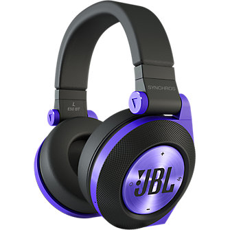 JBL E50BT Around-Ear Bluetooth Headphones - Purple