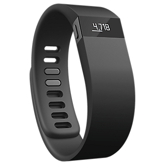 Fitbit Force Wireless Activity  Sleep Wristband - Black/ Large