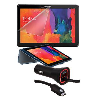 Premium Travel Bundle for Galaxy Note Pro - Blue