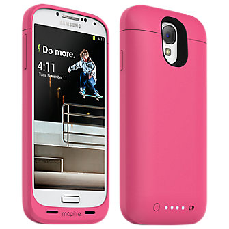 mophie juice pack for Samsung Galaxy S 4, 2300mAh - PINK