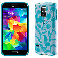 Speck CandyShell Inked for Galaxy S 5 - Blue/Atlantic Blue WallFlowers