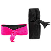 Griffin Ribbon Wristband for Fitness Trackers - 2 Pack - Black/Hot Pink