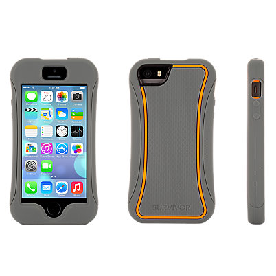 Griffin Survivor Slim for iPhone 5/5s - Grey and Orange