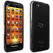 High Gloss Silicone Cover for BlackBerry Z30 - Black