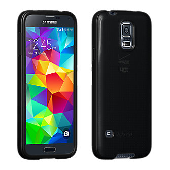High Gloss Silicone Cover for Galaxy S 5 - Black
