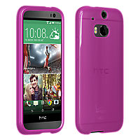 High Gloss Silicone Case for the all new HTC One (M8) - Pink