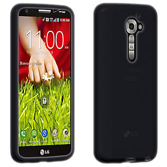 High Gloss Silicone Cover for LG G2-  Black