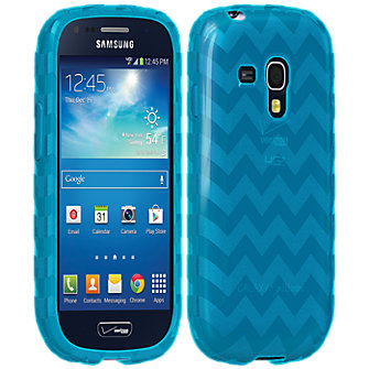 High Gloss Silicone Cover for Galaxy S III Mini - Blue