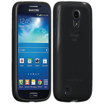 High Gloss Silicone Cover for Galaxy S4 Mini - Black