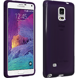 High Gloss Silicone Cover for Samsung Galaxy Note 4 - Purple