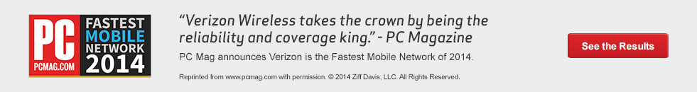 Verizon Wireless - Fastest Mobile Network 2014 from PC Magazine