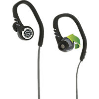 Scosche sportClip3 Sport Earbuds with tapIT remote and mic - Black