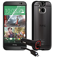 Essential Travel Bundle for HTC One (M8) - Clear