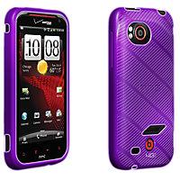 High Gloss Silicone Cover for HTC Rezound - Purple