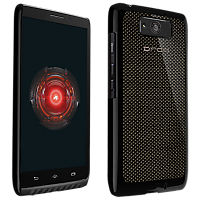 VZW Hard Shell Case Droid MAXX- Carbon Fiber Black