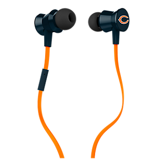 iHip NFL Protech Metal Earbud with Mic - Chicago Bears