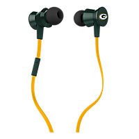 iHip NFL Protech Metal Earbud with Mic - Green Bay Packers