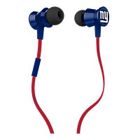 iHip NFL Protech Metal Earbud with Mic - New York Giants