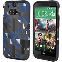 Incipio DualPro Print for the all new HTC One (M8) - Black / Blue Geometic