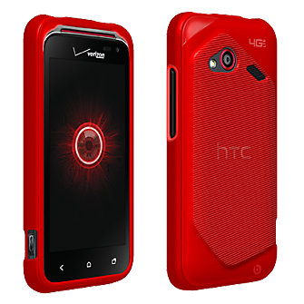 High Gloss Silicone Cover for HTC DROID Incredible 4G LTE - Red