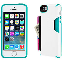 Speck CandyShell Card for iPhone 5/5s - White/Teal